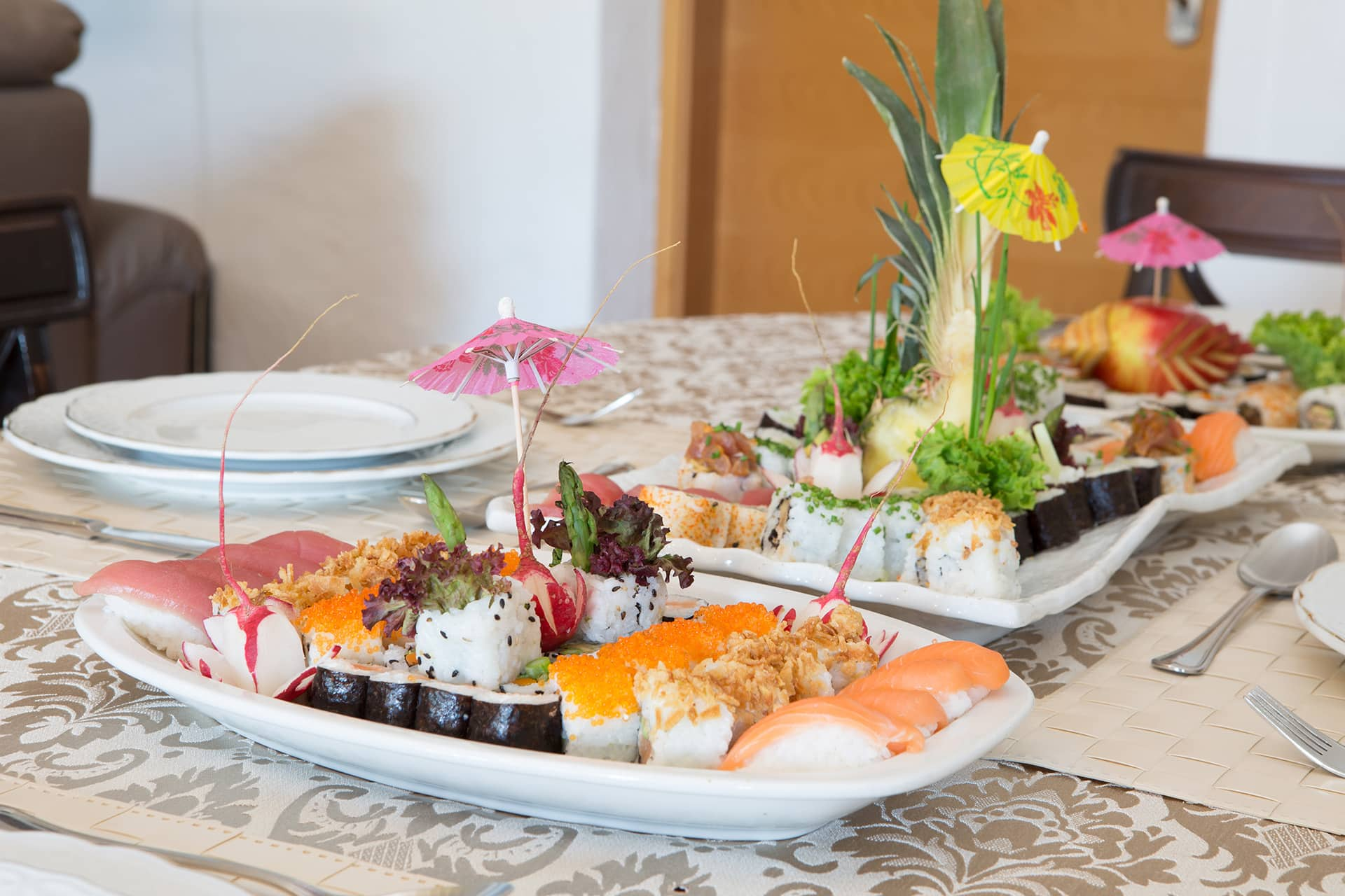 Cuisine on Table - Sushi Villa Paradiso Spain
