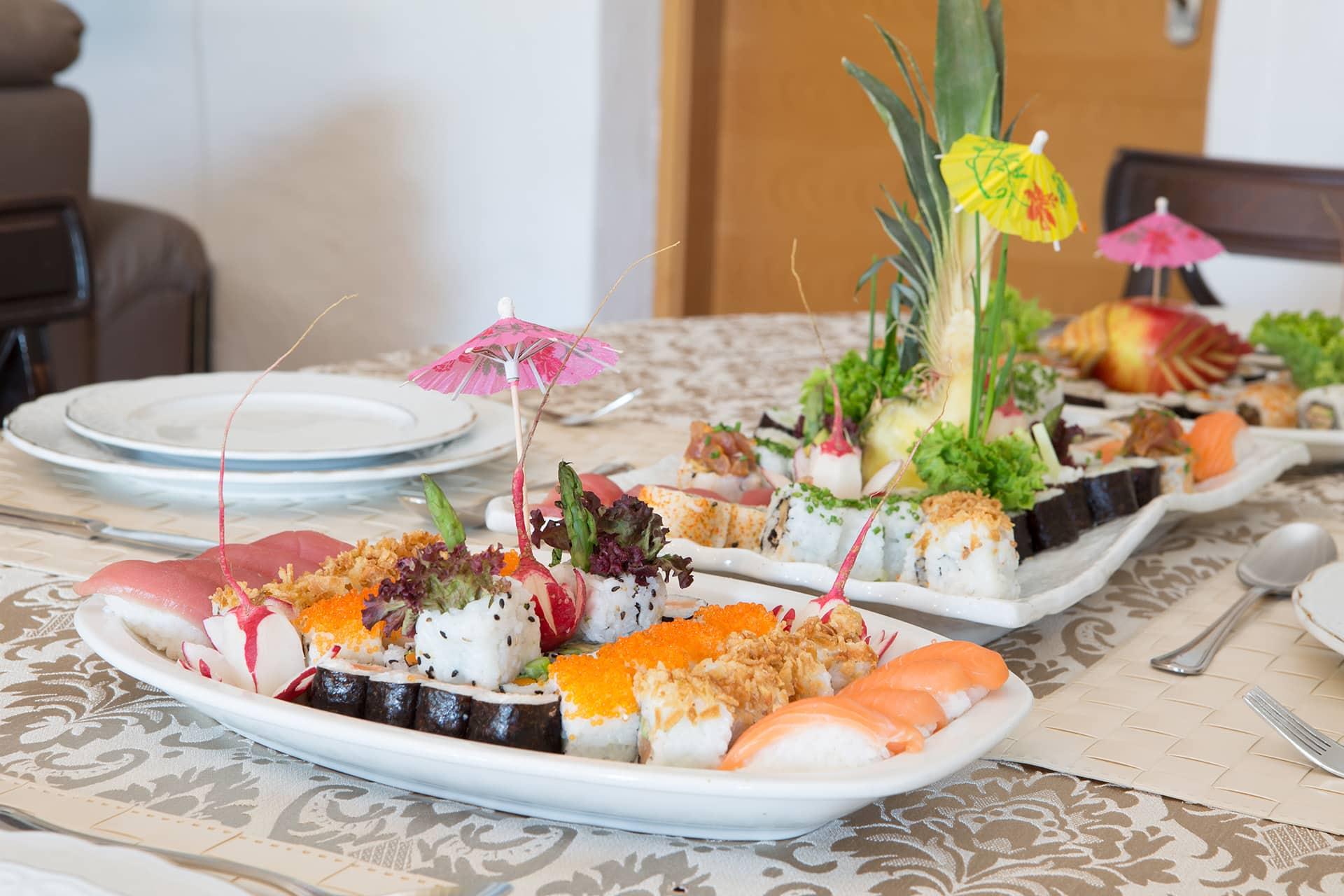 Cuisine on Table - Sushi Villa Paradiso Spain