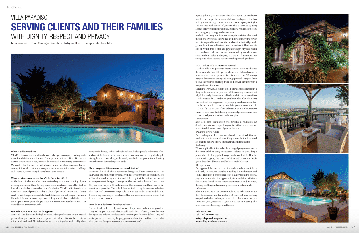 Serving clients and their families with dignity, respect and privacy – Villa Paradiso